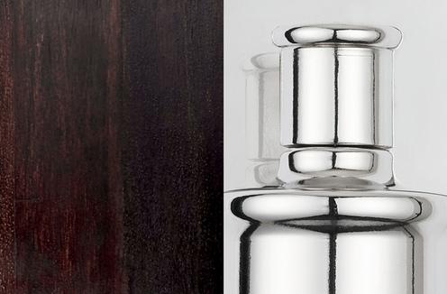 Photo of Dark Wood and Polished Nickel