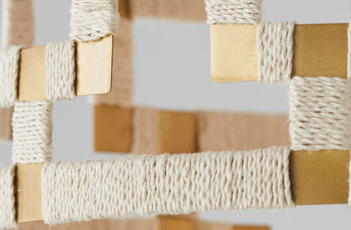 Photo of Bleached Natural Jute and Patinaed Brass