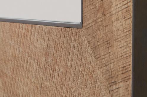 Photo of Natural Rough Sawn Wood and Zinc Metal