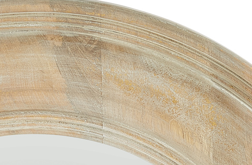 Photo of White Washed Wood with Gold Leaf