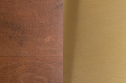 Photo of Medium Wood and Matte Brass