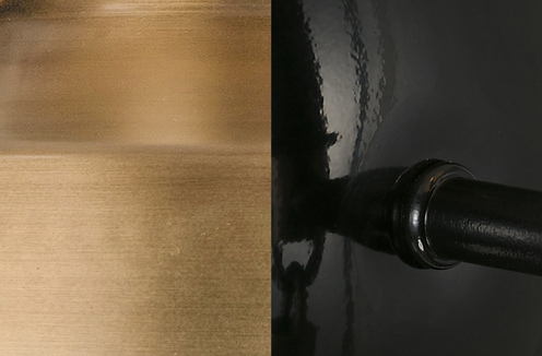 Photo of Glossy Black and Aged Brass